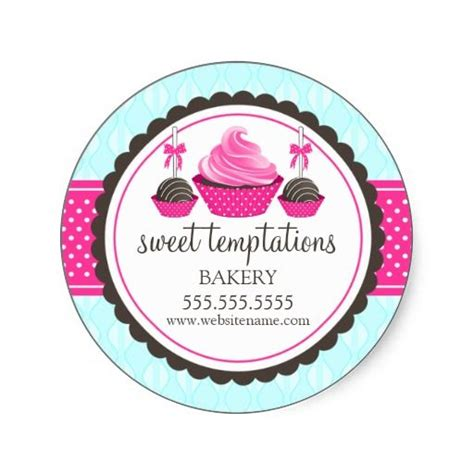 Bakery Stickers cupcake and cake pops bakery stickers pin3