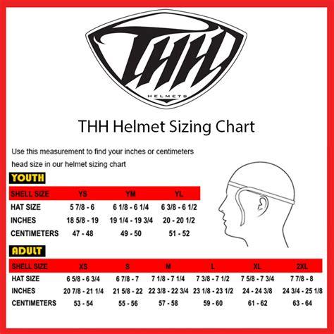 youth motocross helmet size chart thh youth tx 12 motorcycle helmet bikebandit com