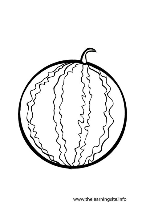 whole watermelon coloring page water fruit colouring pages