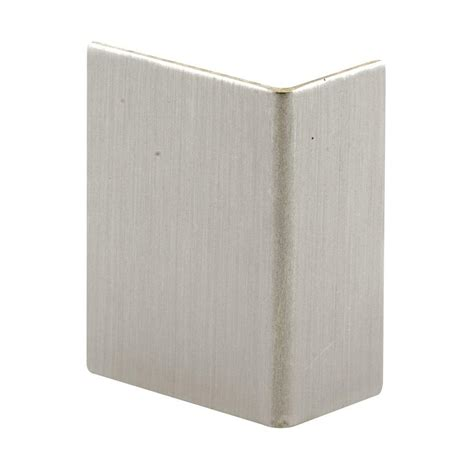bathtub edge guard prime line brushed stainless adhesive backed door edge guard s 4215 the home depot