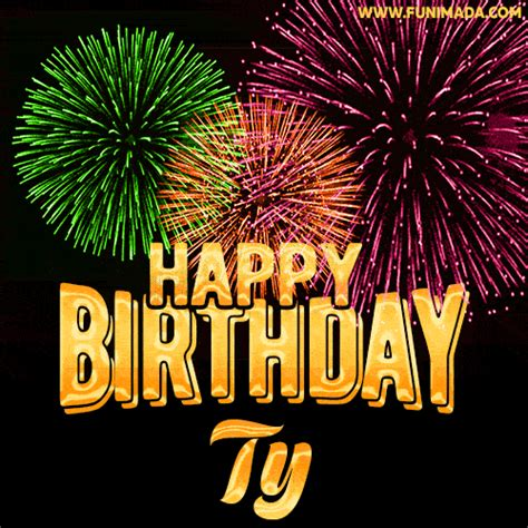wishing   happy birthday ty  fireworks gif animated greeting card