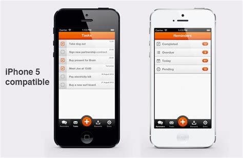 remindme iphone and ios app ui design templates