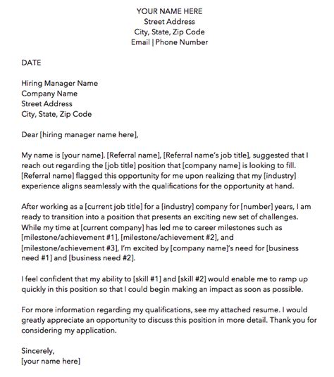 cover letter templates perfect job