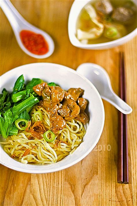 Mie Ayam Jamur Mushroom Chicken Noodle Indonesian Food | mie ayam chicken noodle indonesian style indonesian