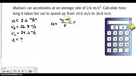 How Do You Find On How To Calculate Acceleration