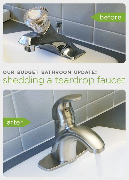 replace sink faucet bathroom before and after our budget bathroom update how to upgrade your bathroom sink by replacing an
