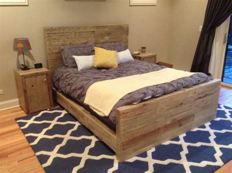 reclaimed pine bedroom furniture weathered oak bed frame queen size