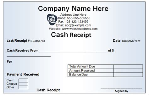 cash receipt book template templates resume exles