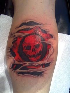 gears of war tattoo designs gears of war skull sleeve designs