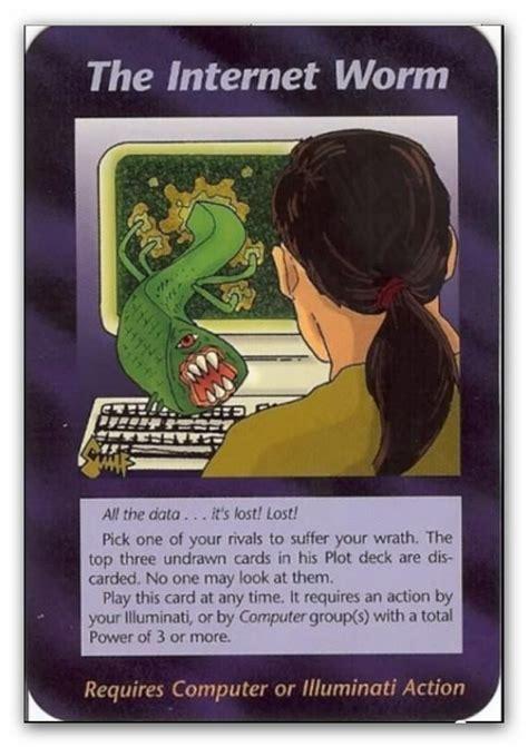 illuminate card illuminati cards the worm by icu8124me on