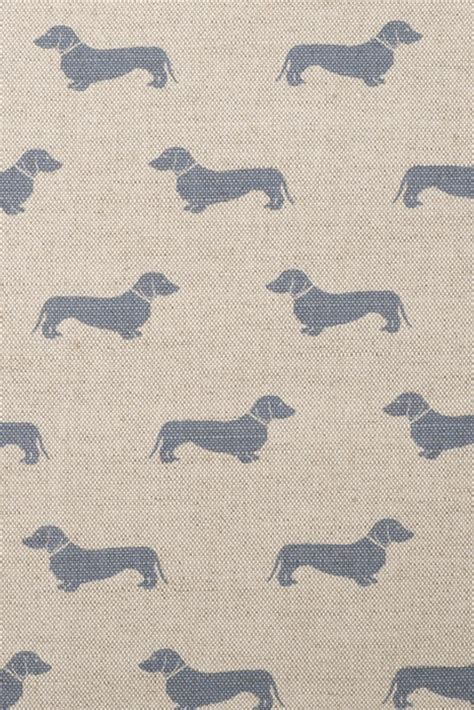dog pattern fabric uk blue dachshund fabric emily bond