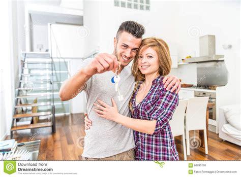 buy new house couple buy house stock photo image 66995196