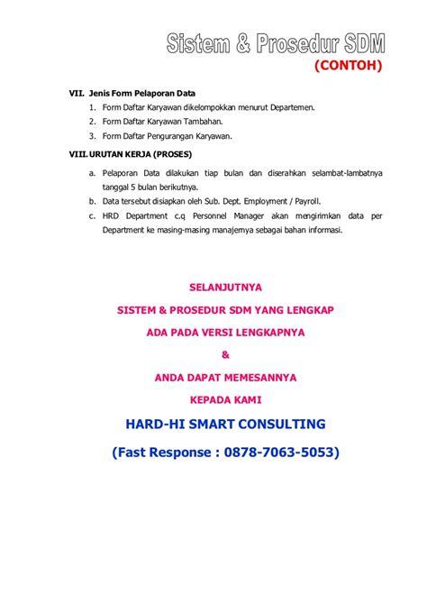 format laporan bulanan hrd contoh sop sdm perusahaan best practise