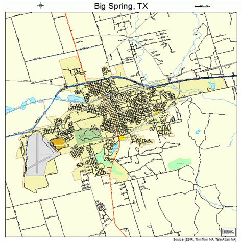 big springs texas map big texas map 4808236