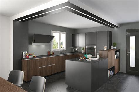 Beau Photo Cuisine Grise Et Noire #1: cuisine-noire-et-bois-mobalpa-ambiancemoderne.jpg
