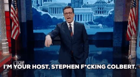 host gif im your host stephen fucking colbert gif by showtime