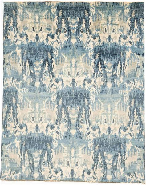 Ikat Runner Rug with Ikat Runner Rug Without Borders Blue 7 9x10 Contemporary Rugs By Rugknots