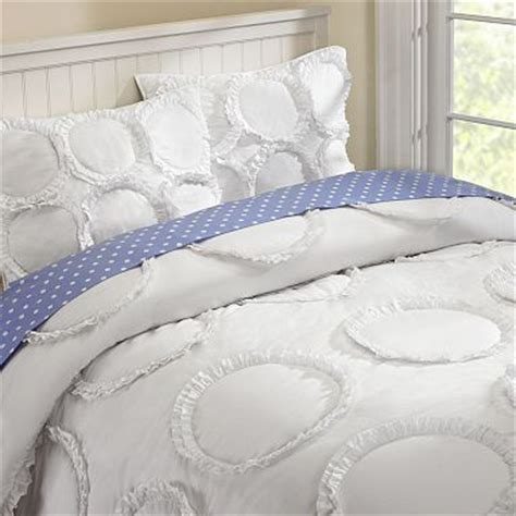 ruffle twin bedding pottery barn teen kids white ruffle rings bed cover quilt