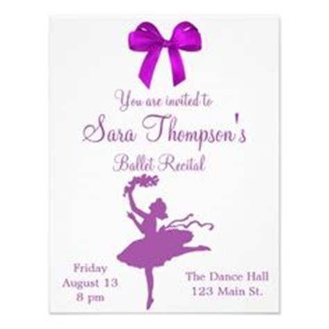 printable recital invitations 1000 images about dance recital invitations on pinterest