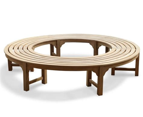 saturn teak backless round tree bench circular tree bench