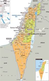 map with all cities and towns detailed political and administrative map of israel with