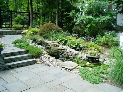 Hillside Patio by Terraced Hillside Patio Traditional New York By