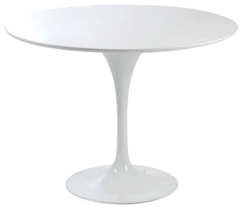 eurostyle astrid pedestal dining table in white