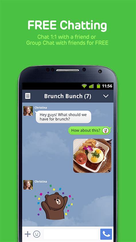line for android line free calls messages screenshot