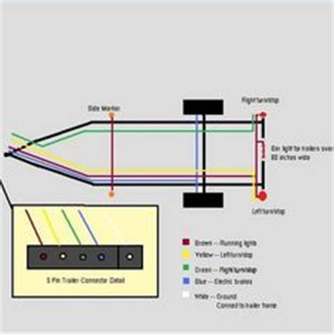 standard 4 pole trailer light wiring diagram automotive