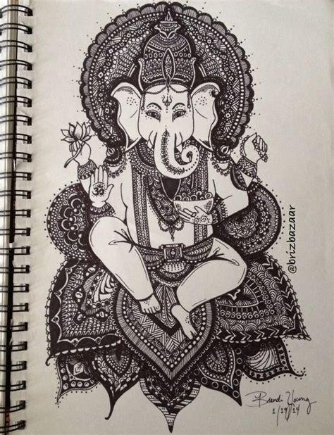 india doodle god instagram brizbazaar zentangle drawing of ganesh