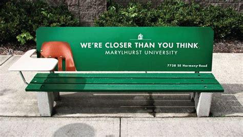 advertising bench advertising bench creative exles guerilla inspiration rest marylhurst