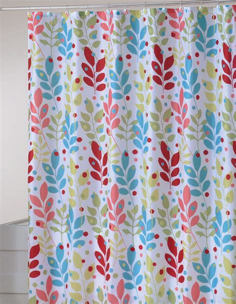 scenic shower curtain essential home scenic briar fabric shower curtain