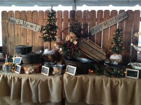 Rustic wedding decor for food table   Rustic Wagon Wheel
