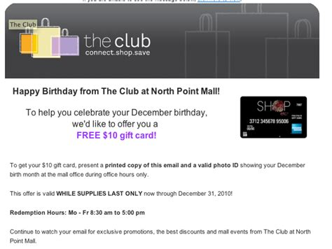 Ggp Gift Card Balance Check - the club shop etc receive free money at select malls