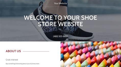 shoe websites shoe store website templates godaddy
