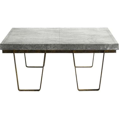 industrial zinc coffee table by i retro