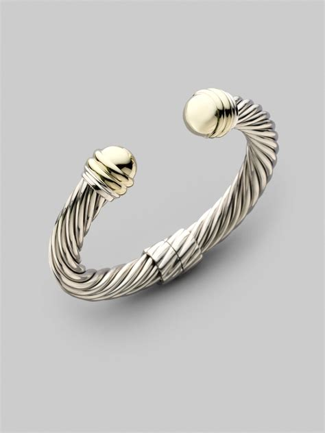 where can i buy for jewelry david yurman sterling silver 14k yellow gold cable