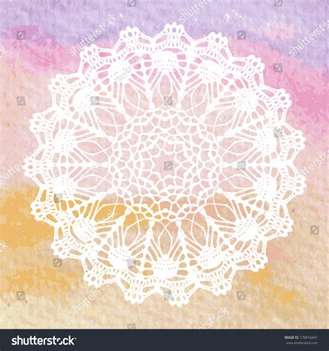 crochet chair card template lacy doily crochet mandala vector template