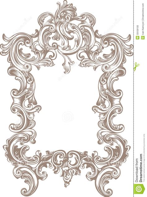 baroque pattern frame frame baroque stock photo image 33159100 carving