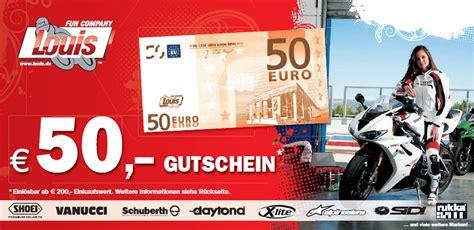 Louis Motorrad Gutschein Juli 2018 by 50 Gutschein Louis Christian Torenz