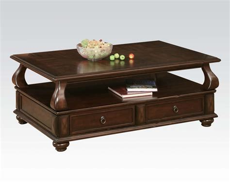 traditional coffee table acme traditional coffee table set 80012