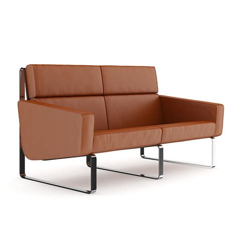 contemporary brown leather sofa brown leather modern sofa cgaxis 3d modelscgaxis 3d