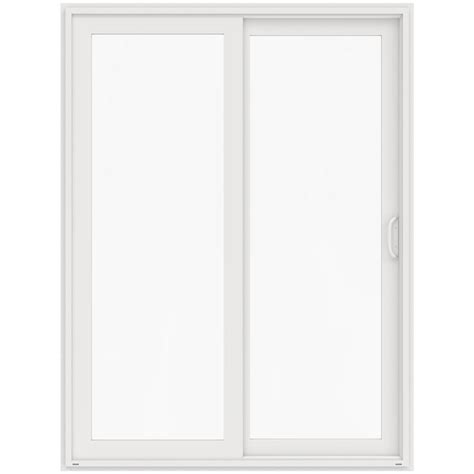 96 Patio Door Jeld Wen 72 In X 96 In V 4500 White Prehung Right Sliding 1 Lite Vinyl Patio Door