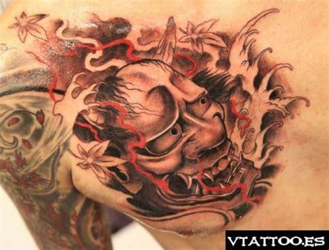 hannya mask chest tattoo 62 japanese hannya mask tattoos