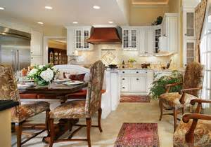 white kitchen with walnut table and banquette for family
