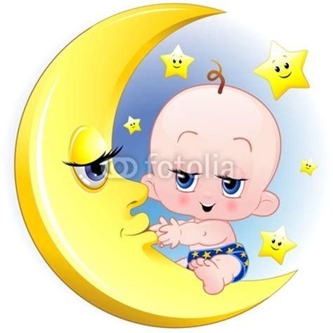 imagenes caritas llorando bajo una luna baby newborn on the moon vector 169 bluedarkat marita