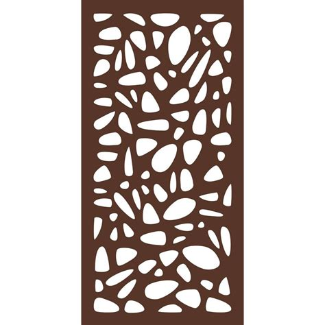 decorative fence panels home depot 4 ft x 2 ft espresso brown modinex decorative composite
