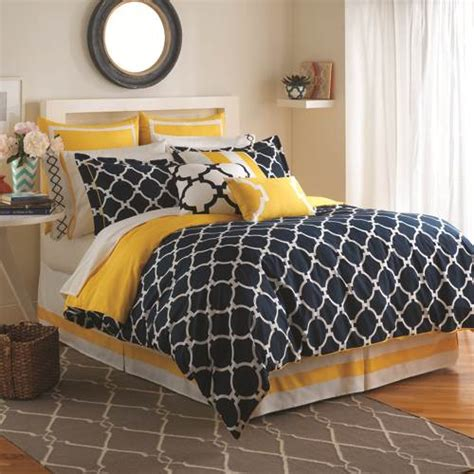 navy and yellow bedding shop jill rosenwald hton links navy lemon bed set