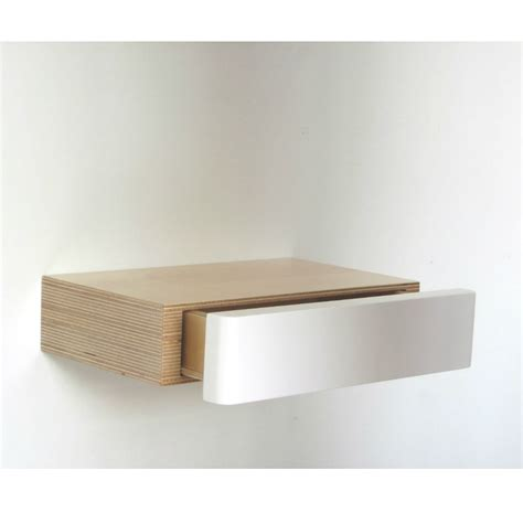 Form Floating Shelf With Drawer by Pacco Floating Shelf Drawer Birch White Bright Blue Living