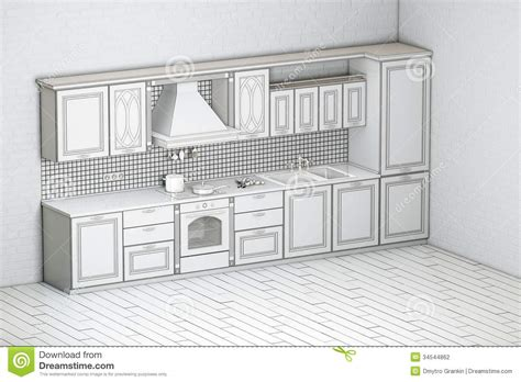 classic kitchen cabinet draft of classic kitchen cabinet stock photography